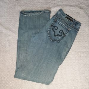 Express Jeans - Rerock For Express Distressed bootcut jeans 10R
